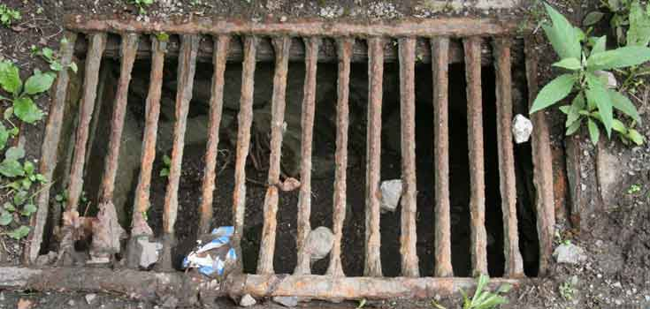Old drain grate