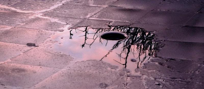 Rain surrounding drain